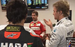 Watch the awkward moment Nico Rosberg pokes himself in the eye