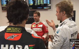 Watch the awkward moment Nico Rosberg pokes himself in the eye