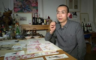 Chinese artist depicts life as a collection of receipts