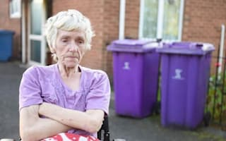 Pensioner's bin left overflowing in month-long row with council