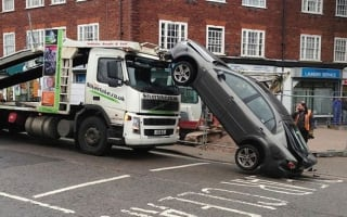 Driver left 'dazed' after reversing vehicle off the top deck of a transporter lorry