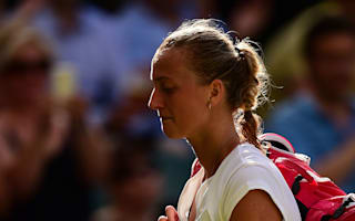 Kvitova crashes out