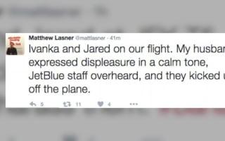 Passengers kicked off flight for harassing Ivanka Trump