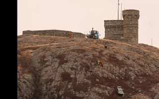 Car left balanced precariously on cliff following crash