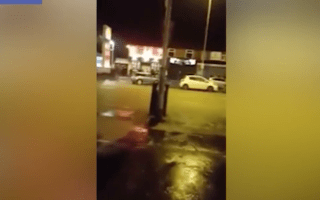 Reckless Mini driver hits pedestrian during New Year's Eve celebrations