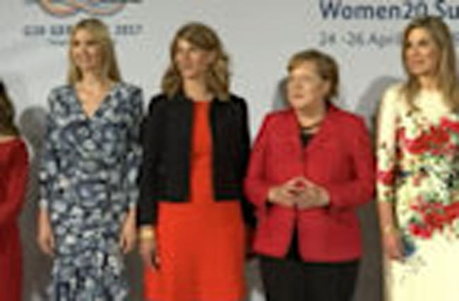Ivanka Trump joins Merkel, Lagarde at Berlin women's summit