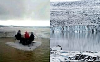 American tourists rescued after having picnic on drifting iceberg