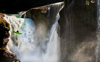 Kayakers left 'up creek without paddle' as 100ft waterfall jump smashes oars
