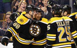 Bruins halt Red Wings, Maple Leafs shock Flyers