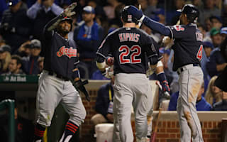 Indians blitz Cubs, on cusp of World Series glory