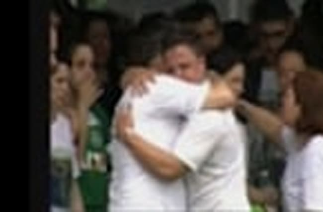 Raw: Brazilians Say 'Goodbye' to Soccer Heroes