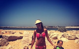 Danielle Lloyd poses with her cute boys on family holiday in Portugal