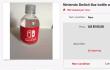 De locos: la botella de agua del evento Nintendo Switch a subasta en eBay