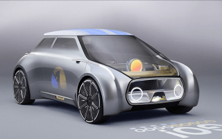 This Mini concept car changes colour according to the driver's mood