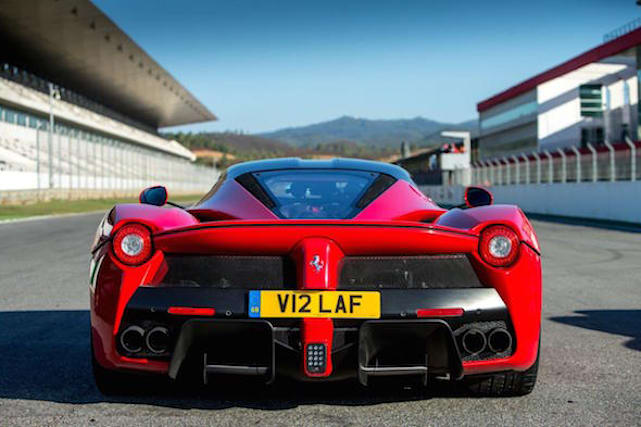 Ferrari offers prestigious personalised plate in charity auction