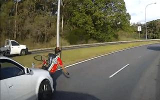 Video: Impatient driver flattens cyclist