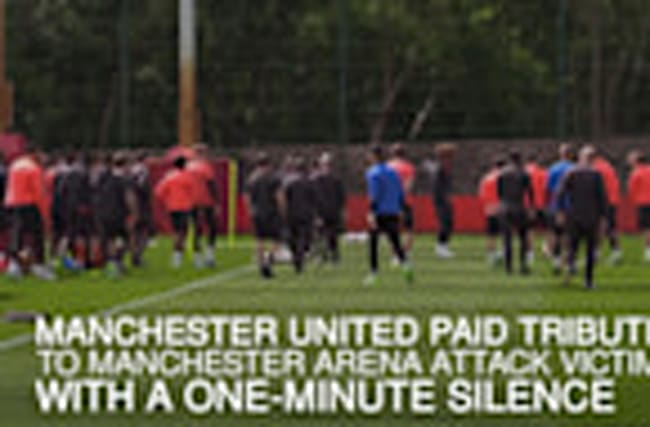 Manchester United hold minute's silence in memory of terror attack victims