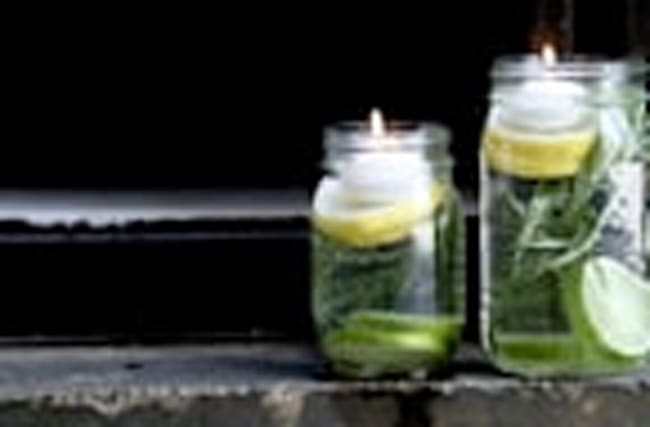 DIY non-toxic mosquito repellent luminaries