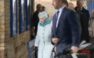 Train passenger nearly bumps into the Queen on King's Lynn platform