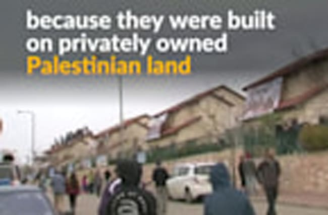 Israeli settlers evicted from West Bank homes