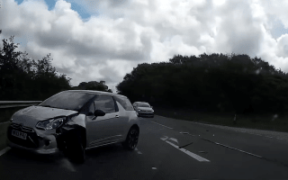 Amazing moment driver avoids huge crash in Cornwall