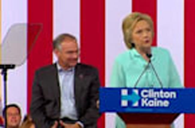 Clinton introduces Kaine as her running mate