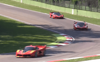 Ferrari FXXKs unleashed at Imola