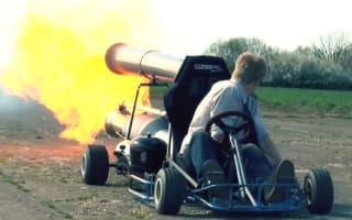 Video: Engineer creates bonkers jet-powered go kart