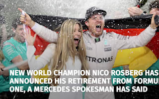 Rosberg announces retirement from Formula 1