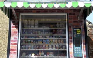 Giant vending machine replaces traditional English village shop