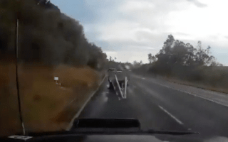 This video shows why you should always check your load before driving
