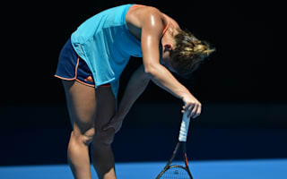 Halep bemoans knee injury after shock elimination