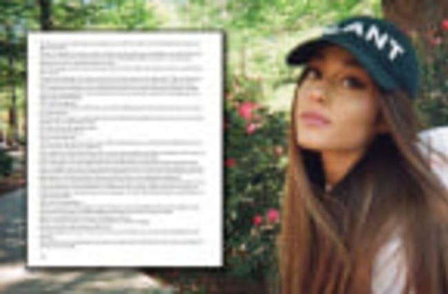 Ariana Grande Announces Manchester Benefit Concert & Shares Heartfelt Letter To