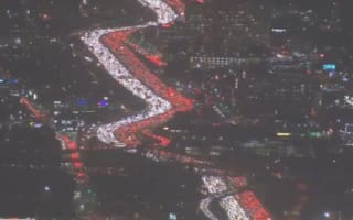 Thanksgiving traffic jam in LA: One of the worst ever in the USA
