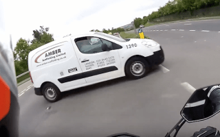 Motorcycle crash captured in first-person