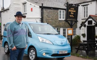 Pub landlord takes Christmas drinkers home in electric van