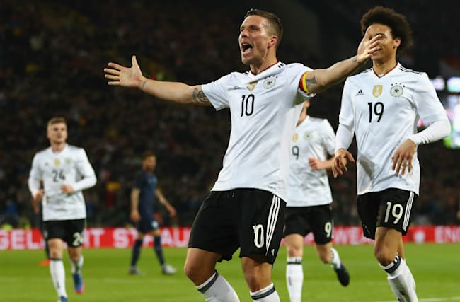 Germany 1 England 0: Podolski signs off in spectacular fashion