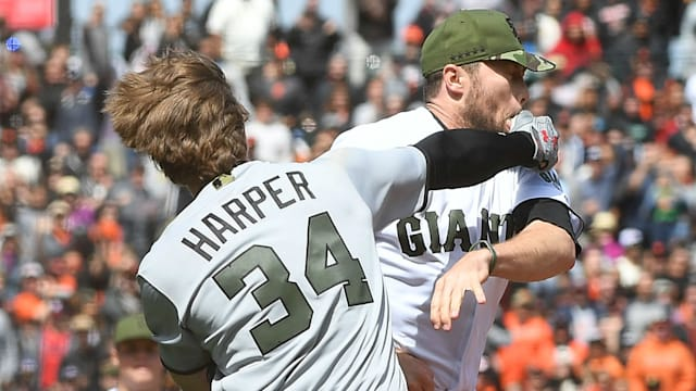 Washington Nationals' Bryce Harper Ejected After Throwing Punches in Sunday's Win