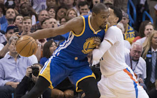 Durant leads Warriors past Thunder in Oklahoma City return