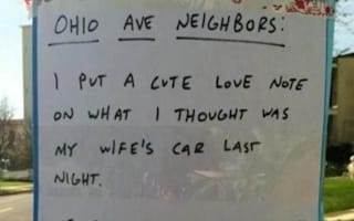 Husband's romantic gesture hilariously backfires