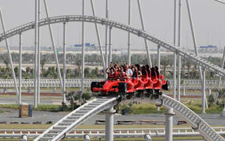 The world's fastest roller coaster opens in Dubai
