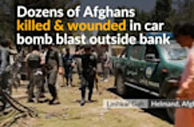 Dozens killed in explosion at Afghan bank