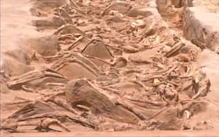 Shackled remains found at ancient Greek site