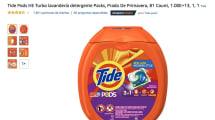 Amazon está llena de opiniones sobre cómo saben las pastillas de detergente Tide Pods