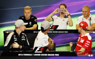Defiant Hamilton repeats phone antics ahead of US GP