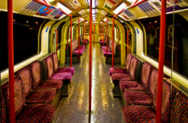 How often are London Underground seats cleaned?