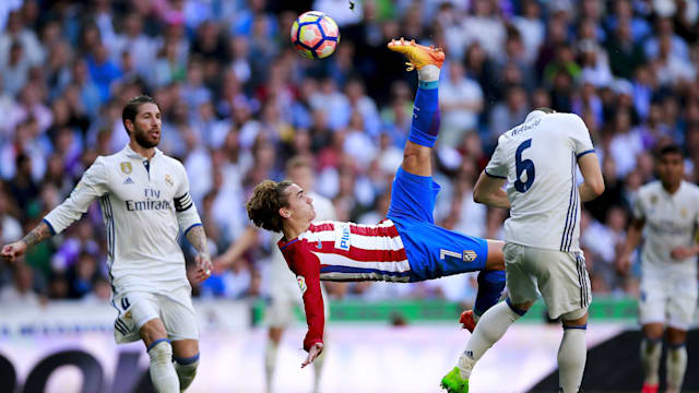 Griezmann to lead Atletico against Real Madrid in derby