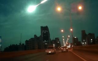 Huge meteor caught on dashcam in Thailand