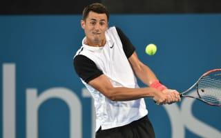 Tomic eases into Sydney quarter-finals, Thiem retires
