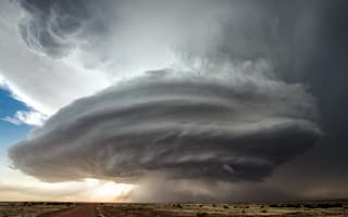Amazing UFO-like storm pictured over Roswell (photos)